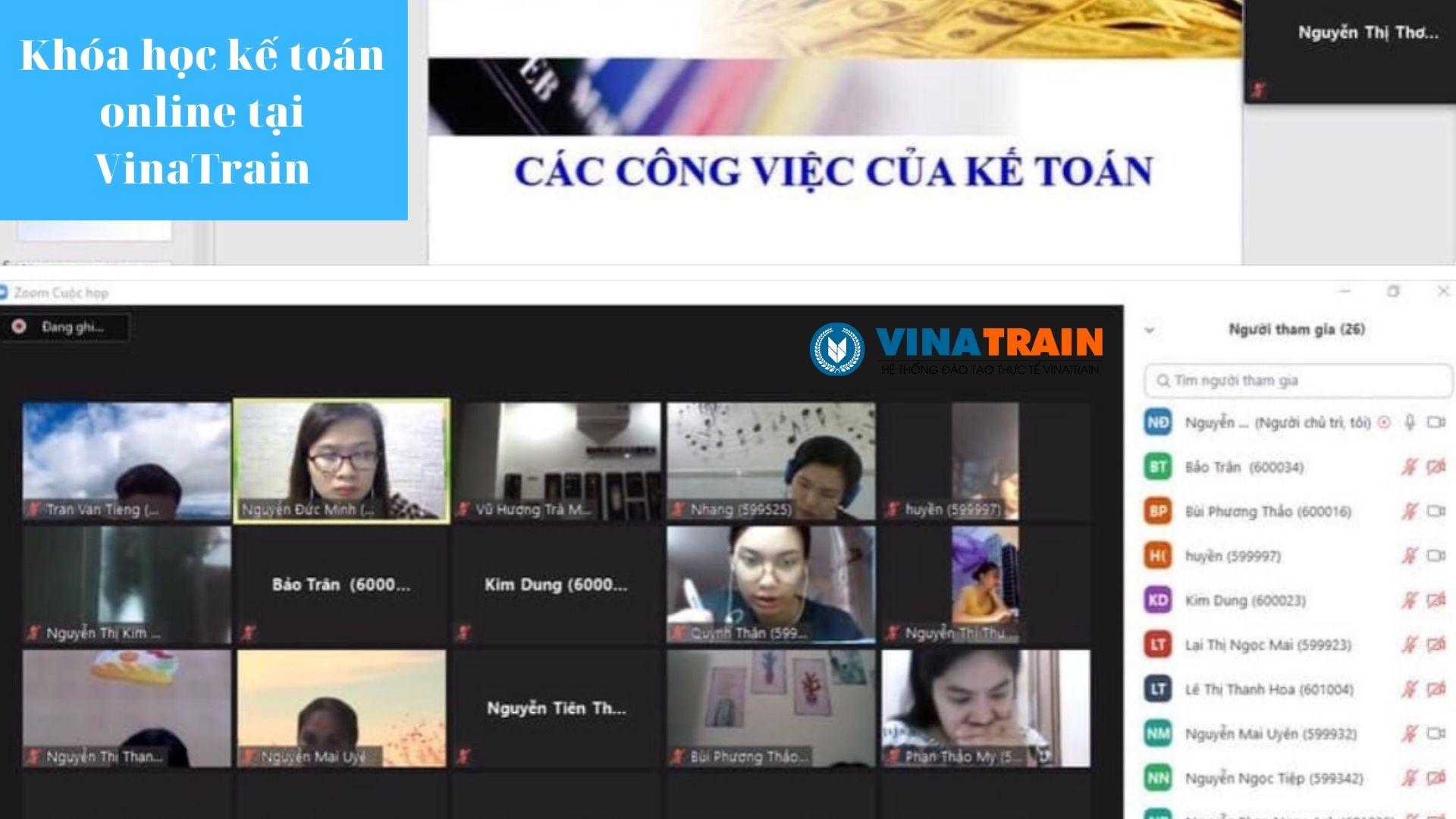 Trung tâm kế toán VinaTrain có tốt không?, Hình ảnh thực tế khóa học tại đây (nguồn: VinaTrain)