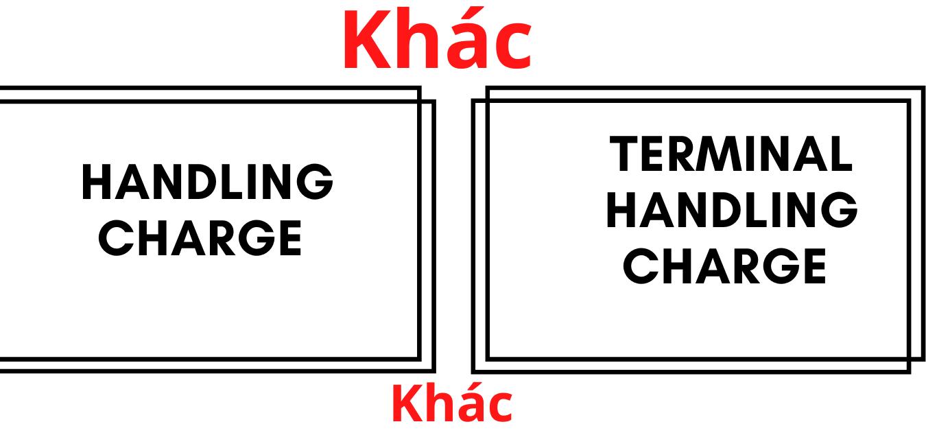 Sự khác nhau giữa phí Handling và THC