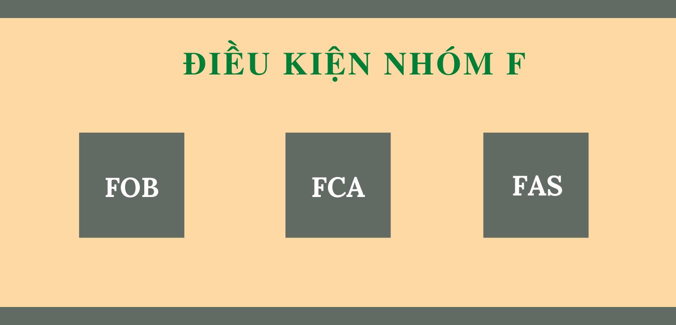Các điều kiện nhóm F trong Incoterms.