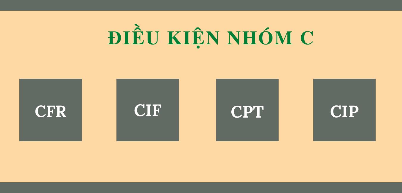 Các điều kiện nhóm C trong Incoterms.