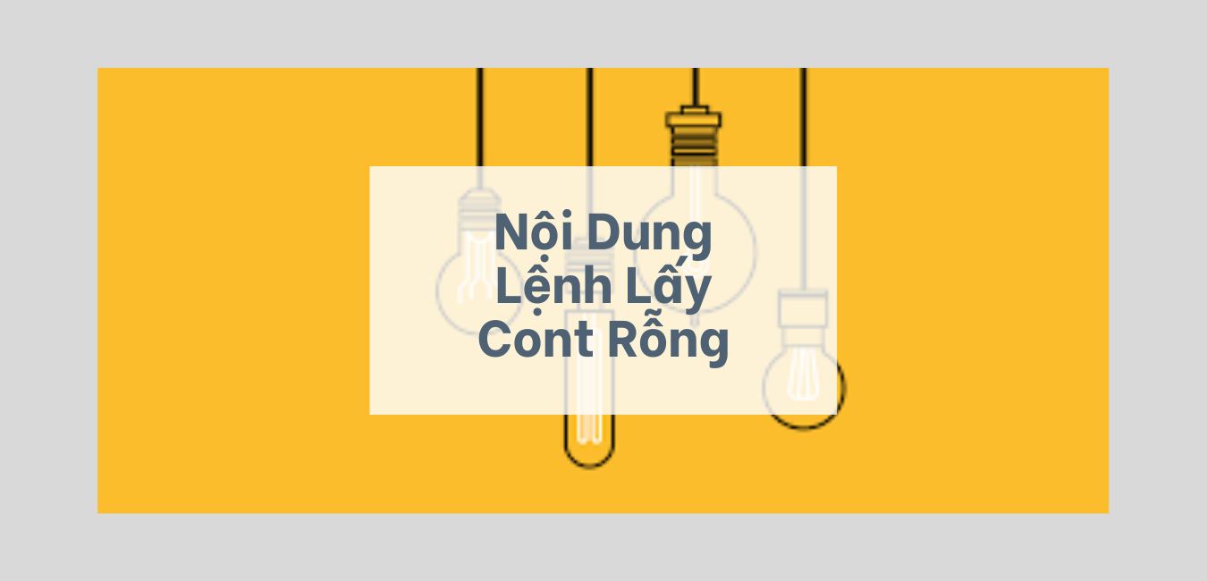 Nội dung lệnh lấy container rỗng